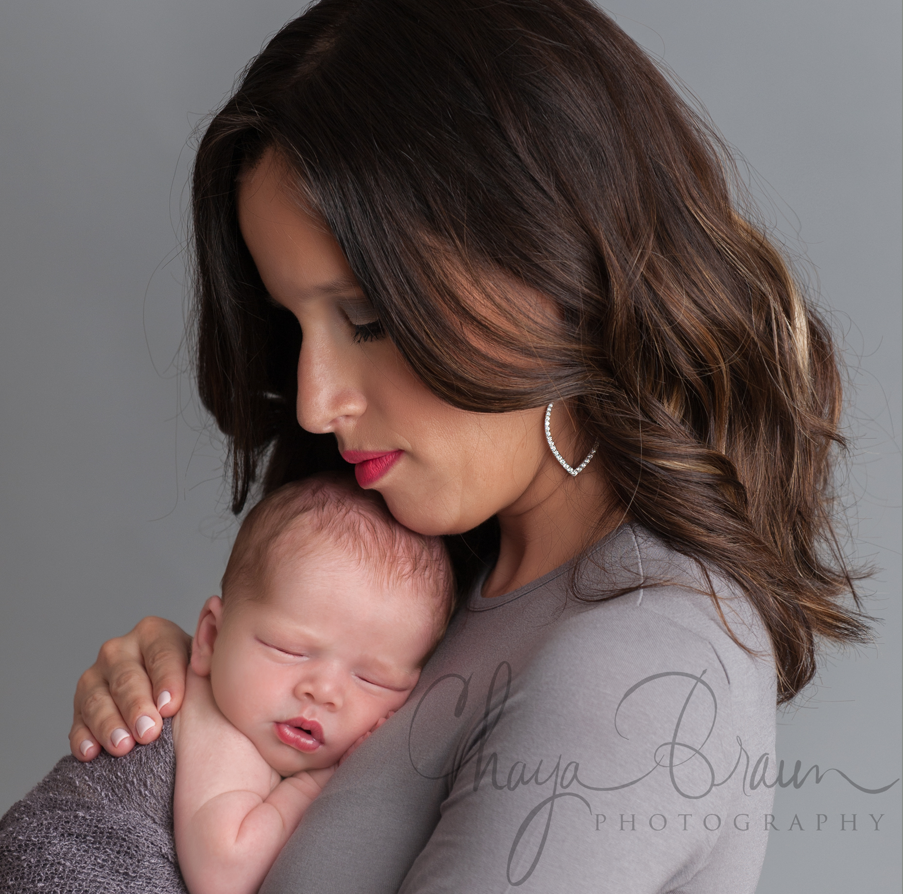 mother and newborn baby portrait