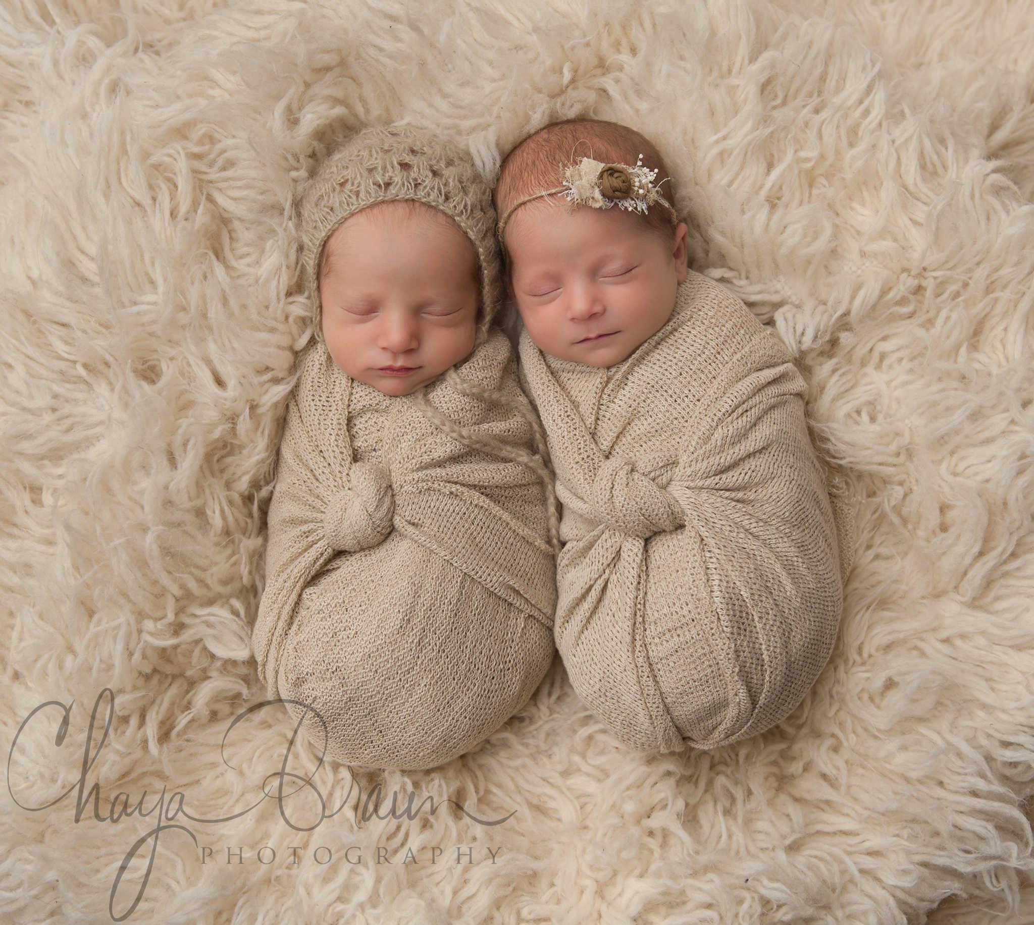 Newborn Baby Twins Photos Chaya Braun Photography