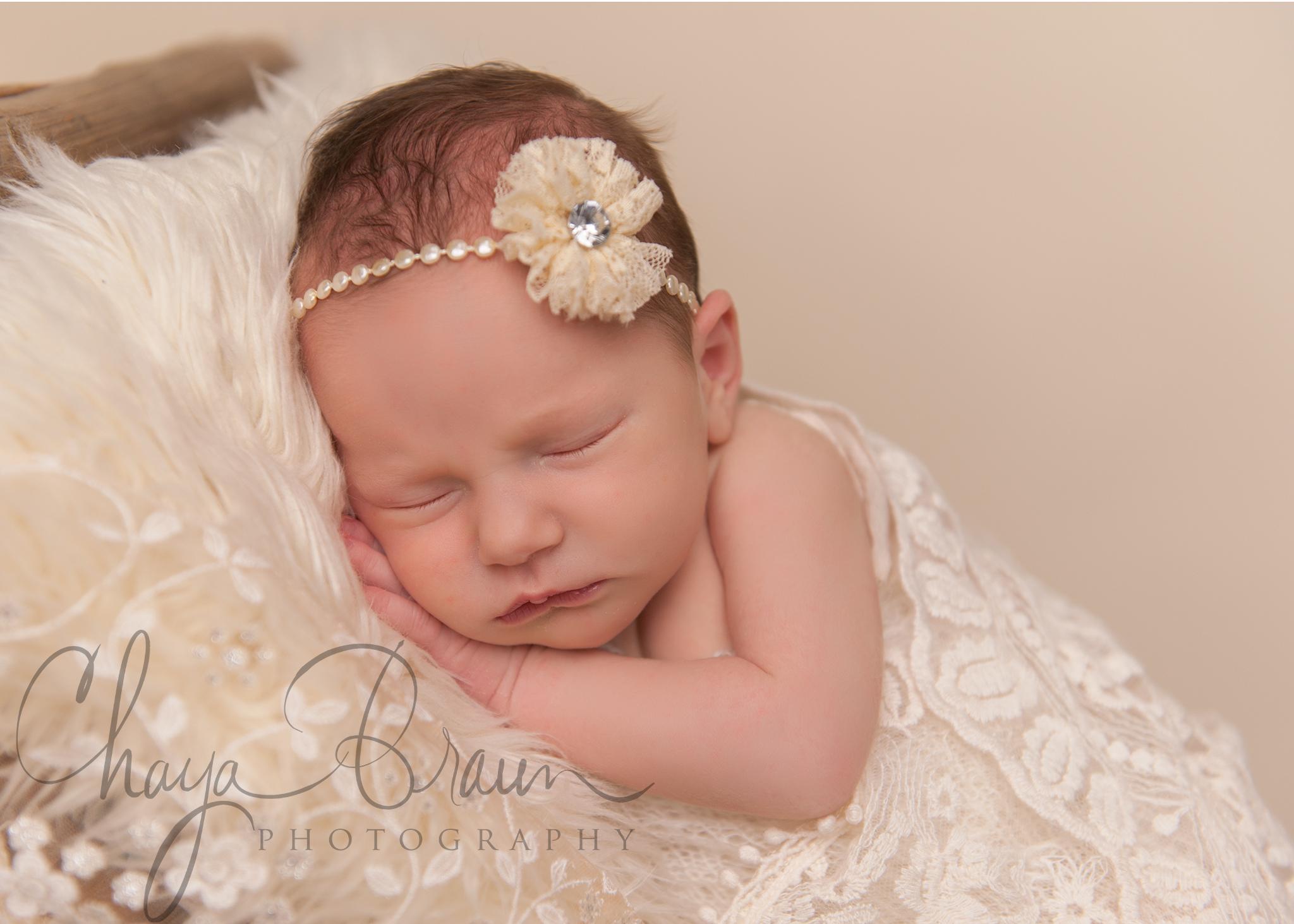 close up newborn baby photo