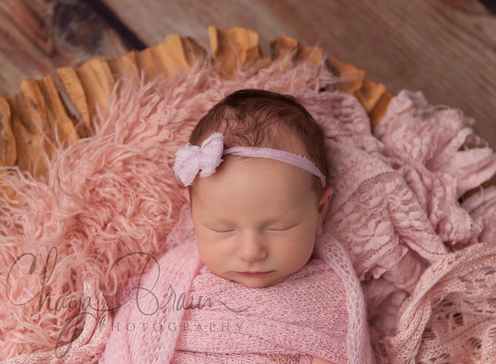 Eliana - pretty sleepy newborn baby
