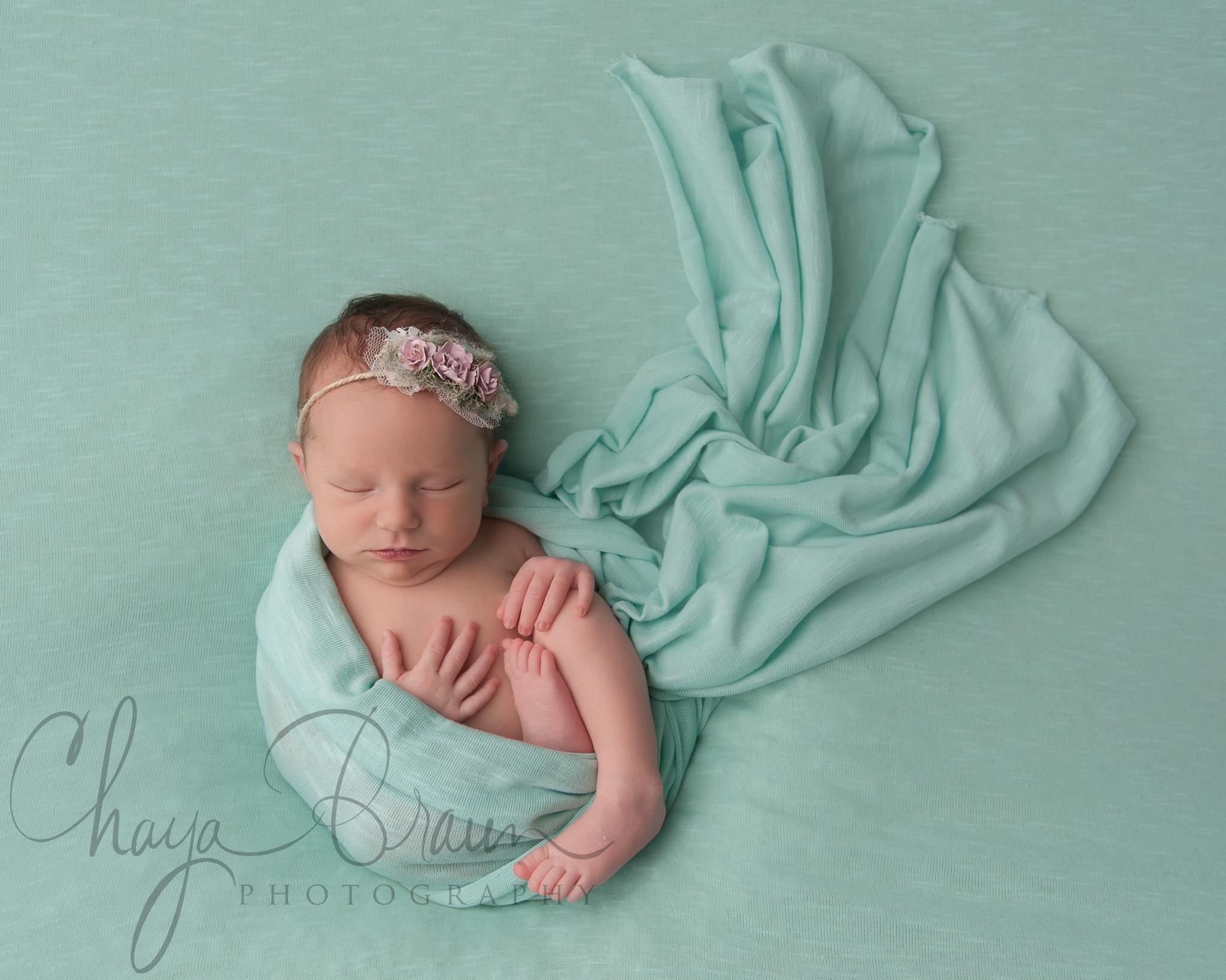 beautiful newborn baby mint green blanket