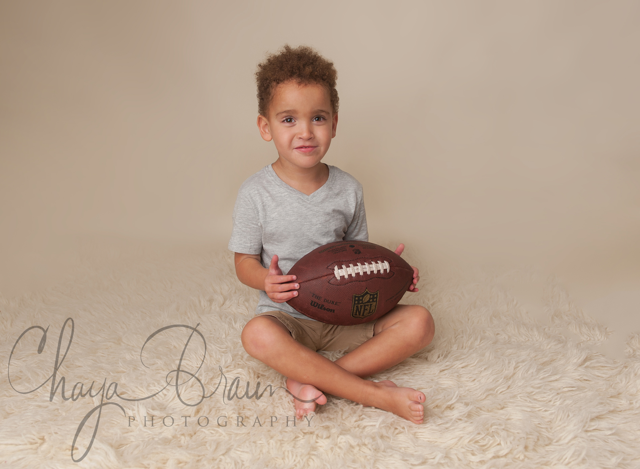 Boy and his football