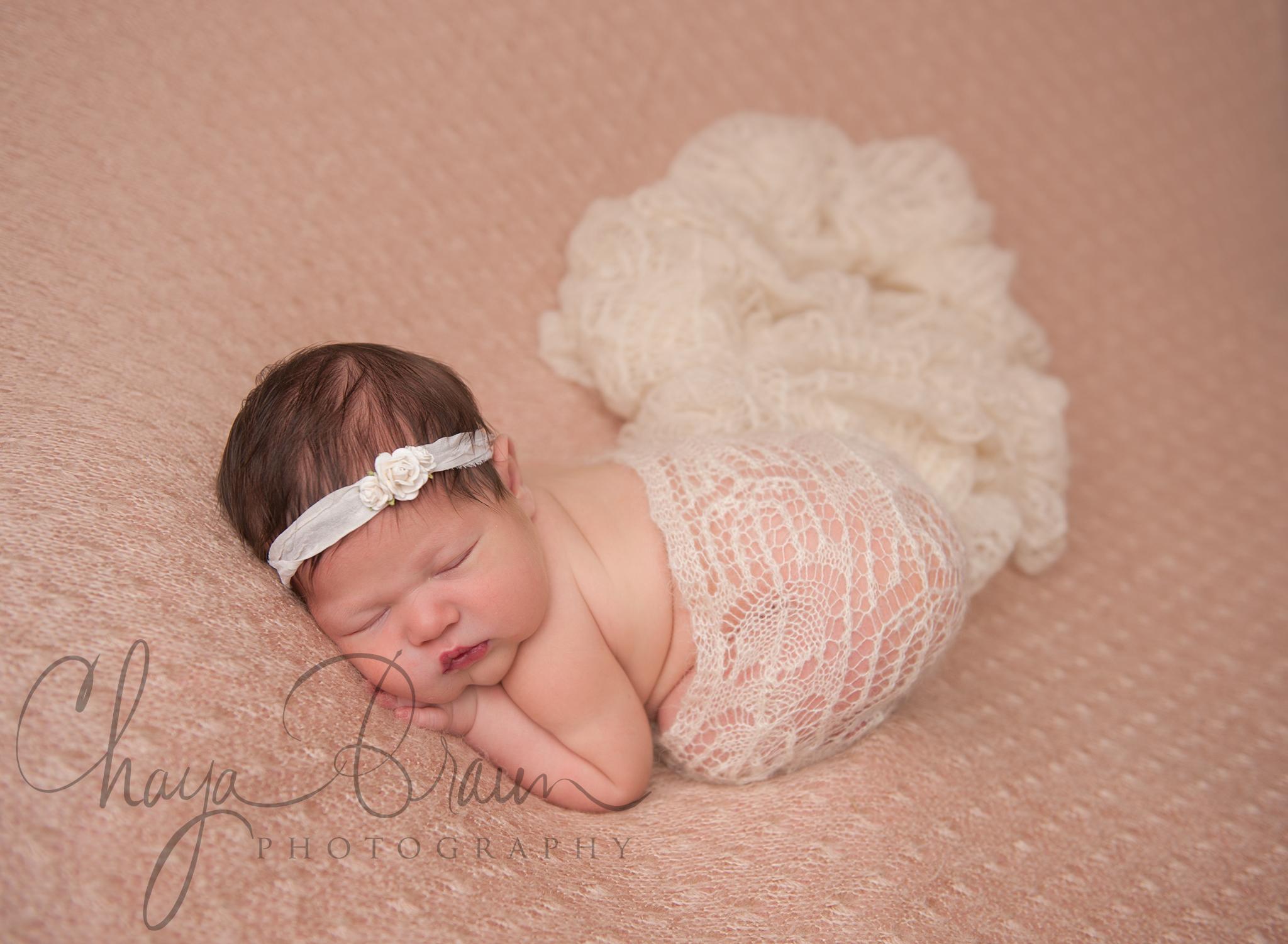 pretty sleepy newborn baby