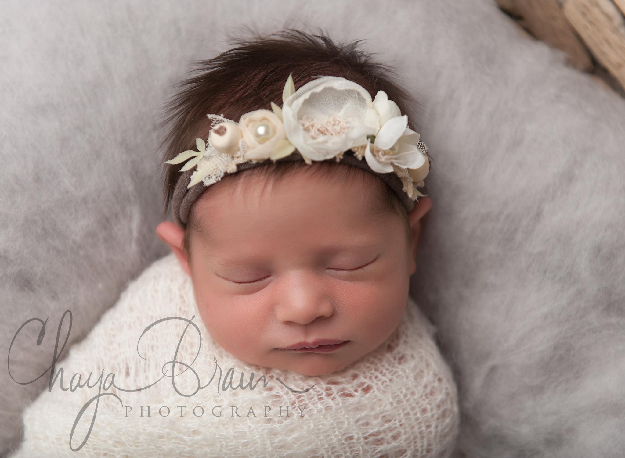 pretty newborn baby girl