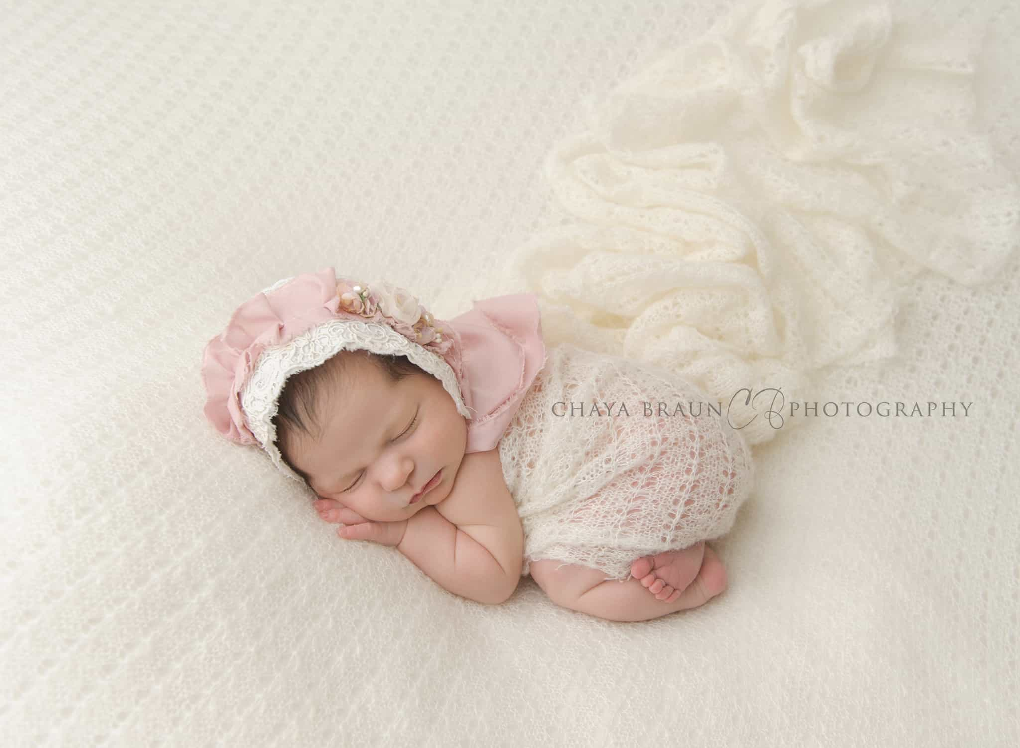 gorgeous newborn baby photo