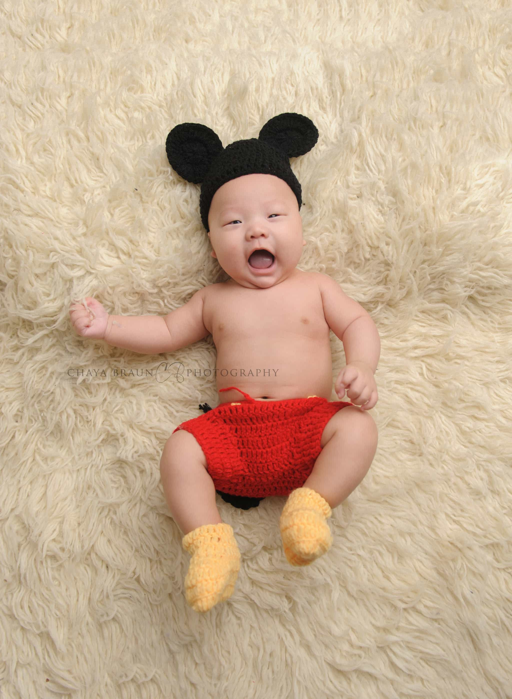 baby in Mickey Mouse costume