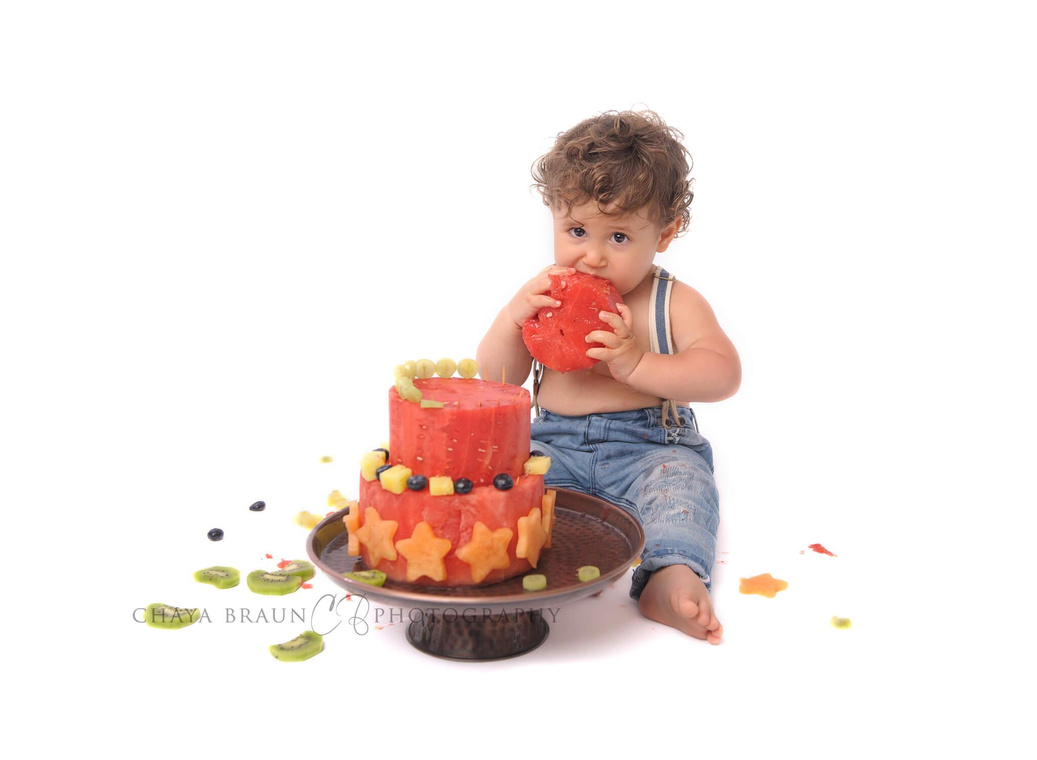 watermelon cake smash