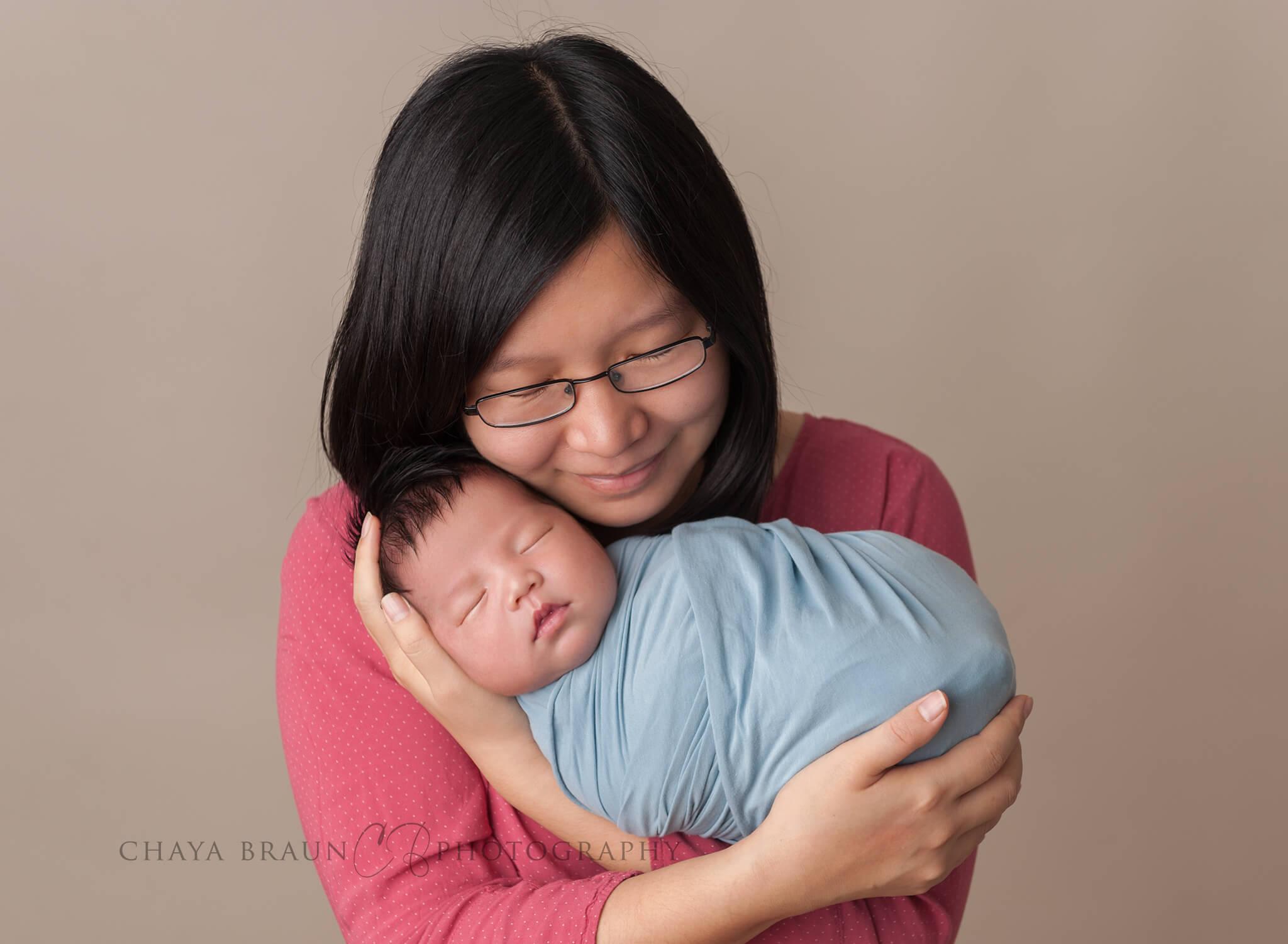 mother and newborn baby boy