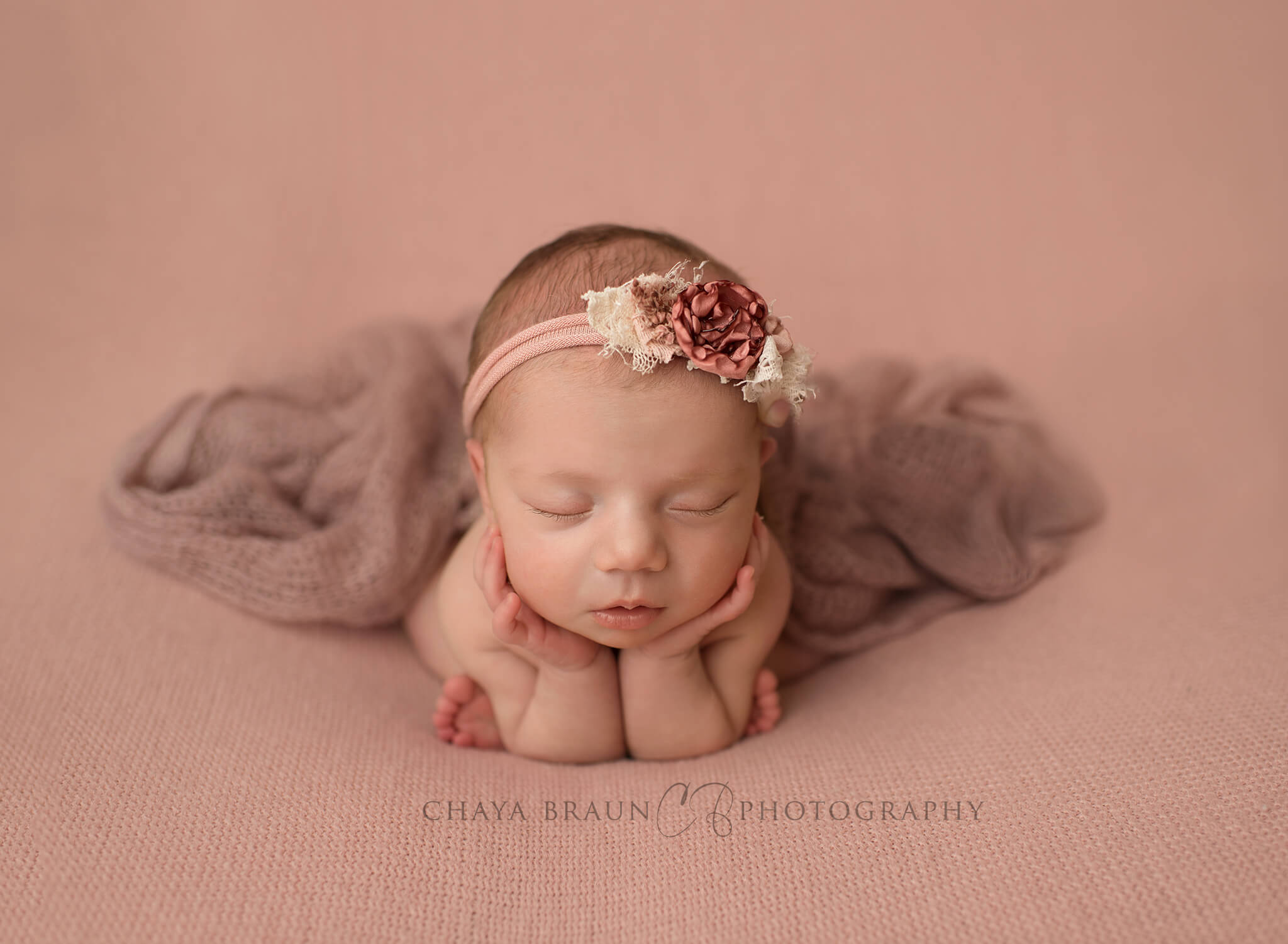 newborn baby girl froggy pose